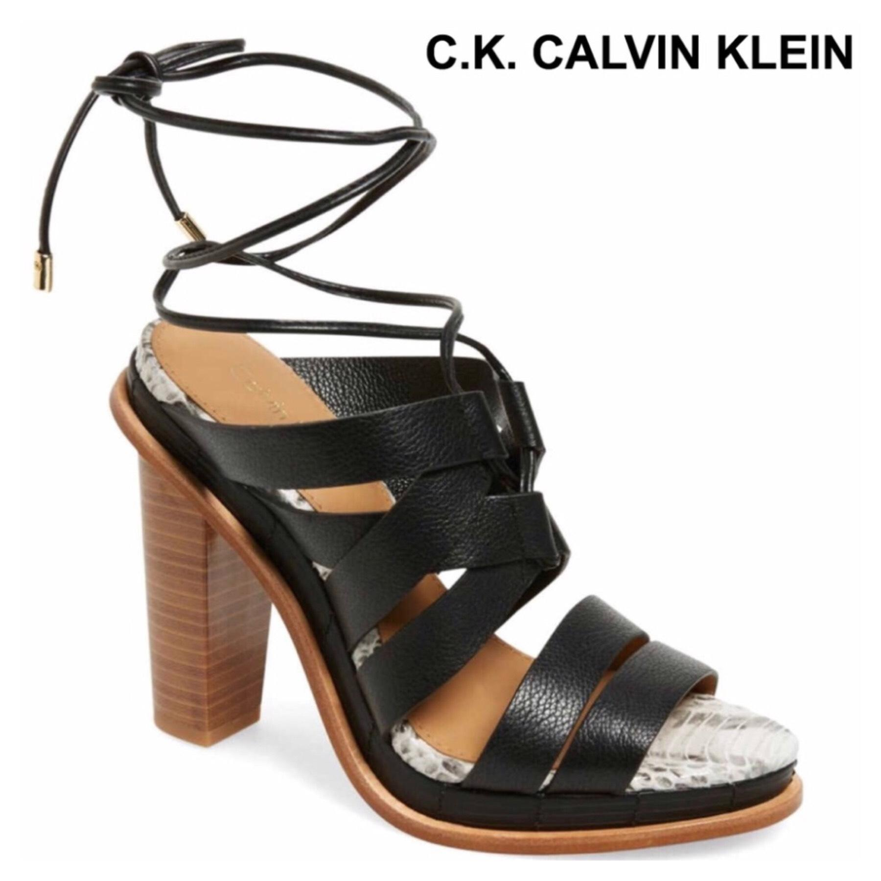 Calvin Klein Collection Lace-Up Cage Sandals shopping online original outlet find great big discount online discount best place websites sale online 5aqMeLpI