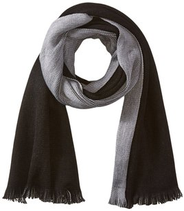 Calvin Klein Calvin Klein Double Faced Angled Scarf (Black/Heathered Mid Gray) Scarves