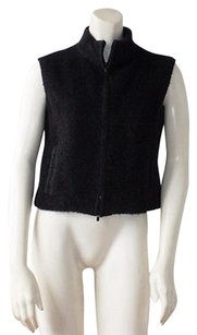 Calvin Klein Collection Mohair Wool Blend Zip Front Hs2063 Vest