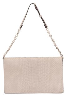Calvin Klein Collection Taupe Snakeskin Handbag Beige Clutch