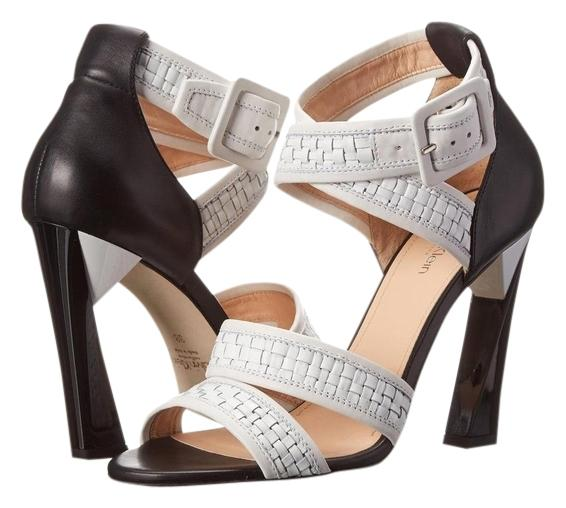 Calvin Klein Collection Leather Woven Sandals get to buy sale online perfect cheap price free shipping big discount sale with credit card RGeAgL1dOs