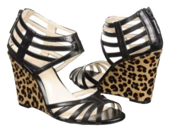 Calvin Klein Collection Fanya Leather Wedges reliable online irPFrj9tE
