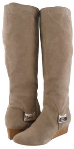 Calvin Klein Elly Suede Taupe Boots