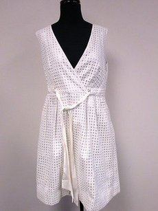 Calvin Klein short dress Multi-Color White Silver on Tradesy