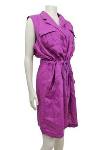 Calvin Klein short dress Purple Sleeveless Linen Shirt In on Tradesy