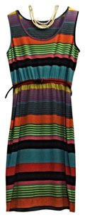 Calvin Klein short dress Multi-Color Stripes Belted on Tradesy