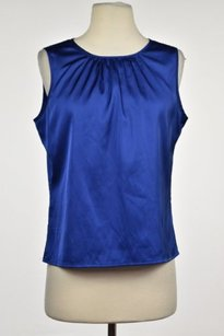 Calvin Klein Womens Petite Top Blue