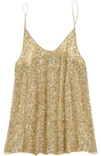 Calypso St. Barth Sequin St. Leola Top Cream / Gold