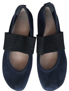 Camper Nubuck Leather Mary Jane Blue Flats