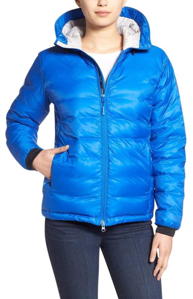 canada goose camp hooded jacket pacific blue