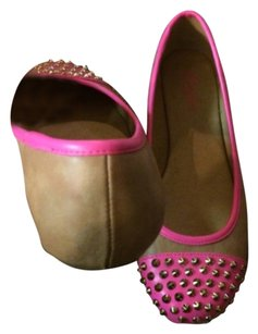 Candie's Pink and tan Flats