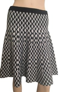 Carmen Marc Valvo Skirt Black White.