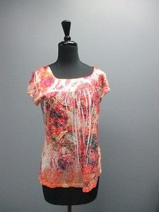 Carole Little Top Red Pink White