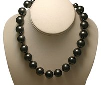 Carole Little Vintage CAROLEE Knotted Black Pearl Chunky Choker