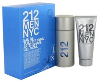 Carolina Herrera 212 By Carolina Herrera Gift Set -- 3.3 Oz Eau De Toilette Spray + 3.3 Oz After Shave Gel