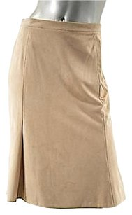 Carolina Herrera Light Mini Skirt Beige