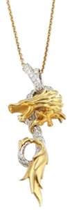 Carrera y Carrera Carrera Y Carrera Diamond 18k Gold Dragon Pendant Necklace