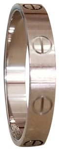 Cartier 18K White Gold Cartier Love Ring Size 60