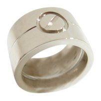 Cartier Auth CARTIER 18K White Gold High Love Ring #48