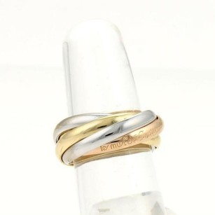 Cartier Cartier 18k Tri-color Gold Trinity Rolling Bands Ring 3mm Eu 52-us 6.25