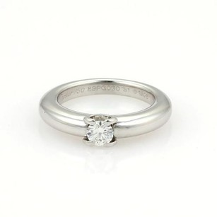 Cartier Cartier 18k White Gold Diamond Solitaire Ring 51-us 5.75
