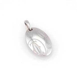 Cartier Cartier 18k White Gold Logo Cartier Happy Birthday Pendant Charm