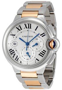 Cartier Cartier Ballon Bleu de Cartier XL Steel and 18K Rose Gold Men's Watch W6920063