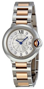 Cartier CARTIER Ballon Bleu WE902030 Silver Dial Steel and 18kt Rose Gold Ladies Watch