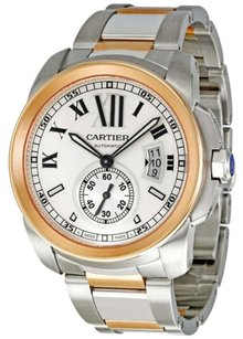Cartier CARTIER Calibre De Cartier SS/18K Rose Gold Mens Watch W7100036