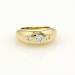 Cartier Cartier Diamonds Gypsy 18k Yellow Gold Dome Band Ring Eu 50-us
