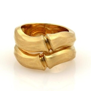 Cartier Cartier Double Bamboo 18k Yellow Gold Stack Bands Ring Eu 51 -
