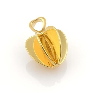 Cartier Cartier Double C Parts Reflective Apple Pendant In 18k Yellow Gold