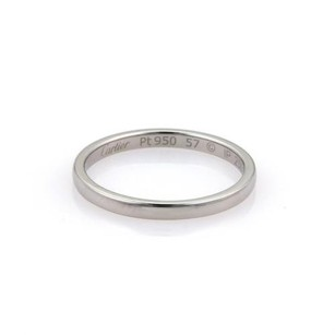 Cartier Cartier Platinum 2mm Plain Dome Band Ring Eu 57-us