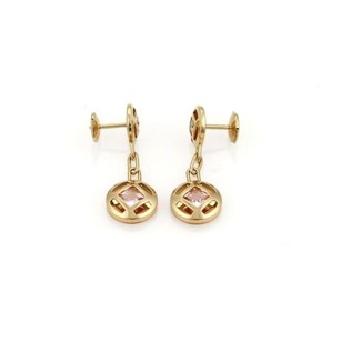 Cartier Cartier Pasha Diamond Pink Tourmaline Dangle Earrings In 18k Yellow Gold