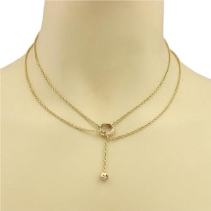 Cartier Cartier Trinity 18k Gold Mini Ring Love Knot Pendant Double Lariat Necklace