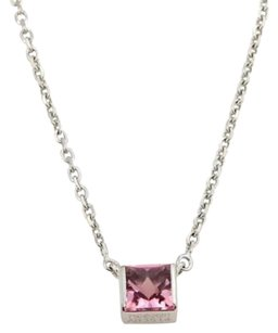 Cartier Cartier Pink Tourmaline Square Pendant 18k Gold Necklace