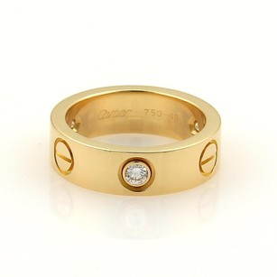 Cartier Cartier Love Diamond 18k Yellow Gold 5.5mm Band Ring Eu 48-us 4.75
