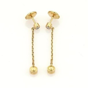 Cartier Cartier Love Diamond 18k Yellow Gold Drop Dangle Earrings
