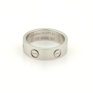 Cartier Cartier Love Platinum 5.5mm Wide Ring Band Eu 51 - 5.75
