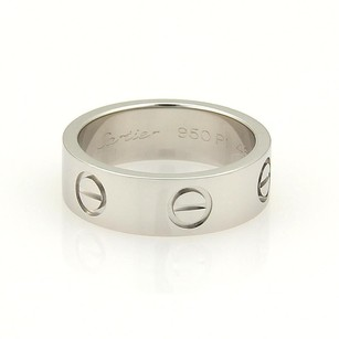 Cartier Cartier Love Platinum 5.5mm Wide Ring Band Eu - Wcert.