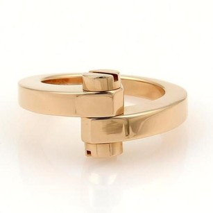 Cartier Cartier Menotte 18k Rose Gold Screw Top Bypass Ring Eu 52-us