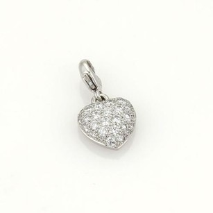 Cartier Cartier Pave Diamond Heart Pendant In 18k White Gold
