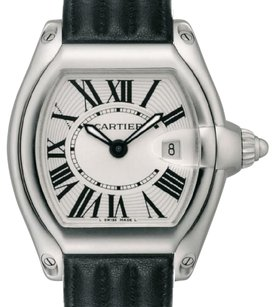 Cartier Cartier Roadster Stainless Steel Leather Band Watch