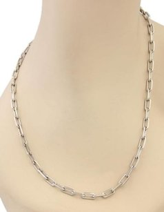 Cartier Cartier Santos De Cartier 18k White Gold Mens Chain Necklace -22 Long