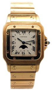 Cartier Cartier Santos Galbee 18K Yellow Gold Moonphase Unisex Watch