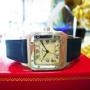 Cartier Cartier Santos Stainless Steel Quartz Roman Numeral Watch