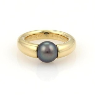 Cartier Cartier Tahitian 8mm Pearl 18k Yellow Gold Ring Eu 49-us