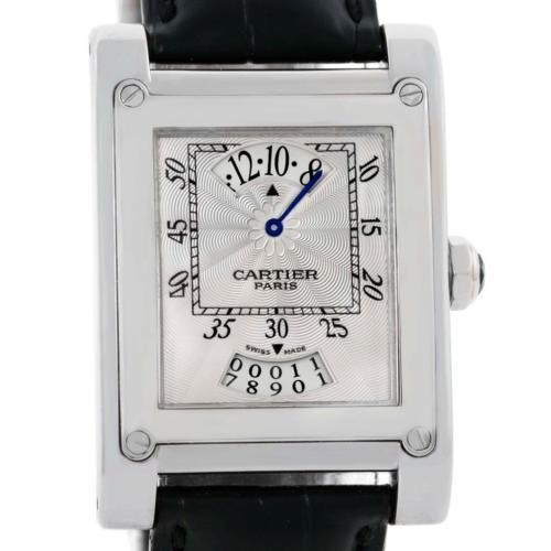 cartier cartier tank a vis jumping hour paris privee white gold watch w1533451