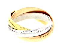 Cartier Cartier Tri-color 18k Rose Yellow And White Gold Trinity Ring