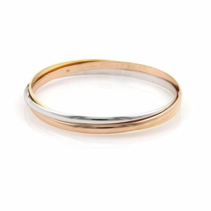 Cartier Cartier Trinity 18k Tri-color Gold 3.5mm Rolling Bangles 59-us 7